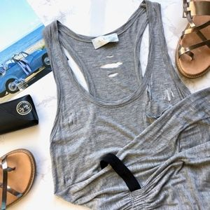 A.L.C. Deconstructed Mini Dress in Heathered Gray